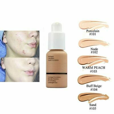 Soft Matte Full Coverage Liquid Foundation Concealer Longlasting  UE