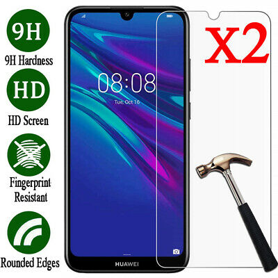 2X 9H Tempered Glass Screen Protector For Huawei Y3 Y5 Y6 Y7 Pro Y9 2019/2018 UK