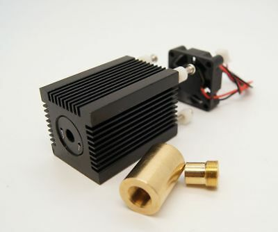 9mm Laser Diode Housing/Heatsink with Fan and 3 Element 505-532nm Lens
