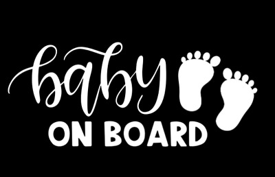 baby on board with feet sticker car decal outdoor vinyl tiny kids