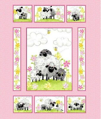 Susybee Mama Lal Quilt Panel * Lambs And Daisies * Free Post * New *