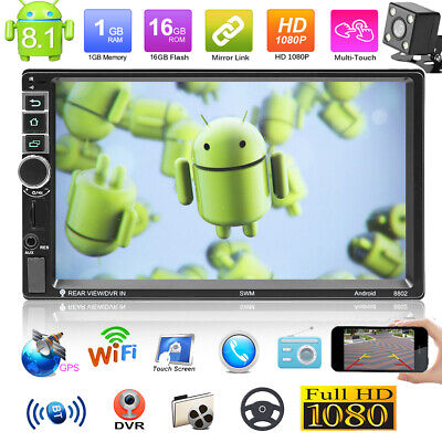 "7"" Autoradio mit Doppel 2DIN Android 8.1 WIFI GPS Navi Bluetooth USB MP5 Player"