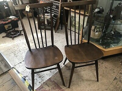 Two Ercol Vintage Retro Mid Century Chairs Model 608