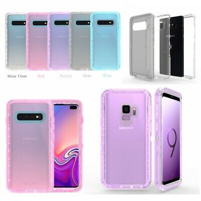 Shockproof Clear Hybrid Hard Case Cover For Samsung Galaxy S10 Plus S9 S8 Note 8