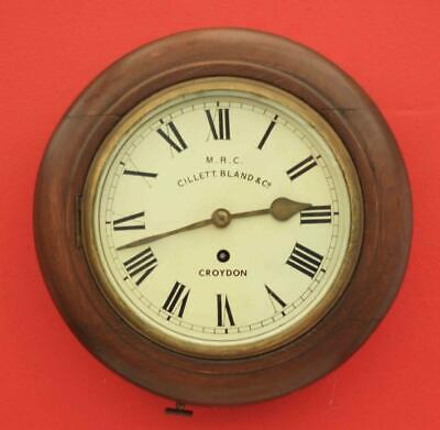 "Cillett. Bland & Co Croydon Vintage 8 Day Fusee 8"" Dial Clock Cast Brass Bezel"