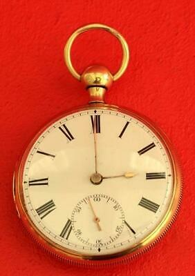 18K Gold Antique English Minute Repeater L Marks Liverpool Gents Pocket Watch
