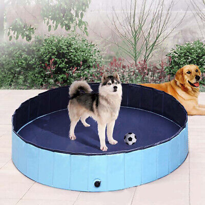 Foldable Collapsible Pet Bath Swiming Pool Puppy Cats Dogs Tub Bathtub Washer