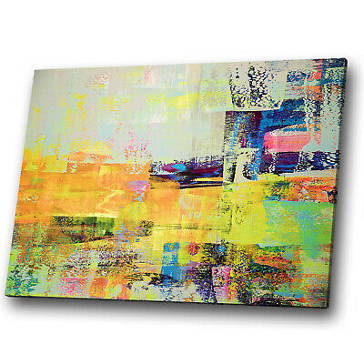 Colourful Retro Funky Cool Abstract Canvas Wall Art Large Picture Prints