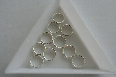 Silver Plate Split Ring - 9mm 40 pieces #6358