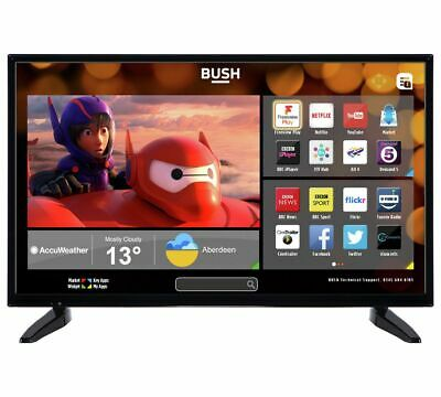 Bush DLED32287HDCNTDF 32 Inch HD Ready 720p Freeview HD Smart WiFi LED TV Black