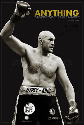 Tyson Fury inspirational quote poster print - pre signed - Anything is possible