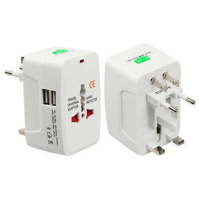 Universal Travel Adapter Worldwide Power Plug Wall AC Adaptor Charger with USBHV