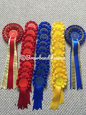 Show Rosettes 10 Sets 1st-3rd/ Best In show/Reserve Best In Show