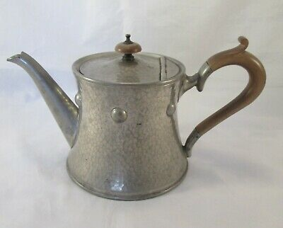 A Vintage Hand Hammered Pewter Tea Pot - Liberty Style