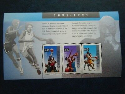 Canada#1344 MNH SS 'Basketball' Lot#AA7