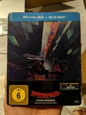 Spider-Man Into the Spider-Verse - Limited Edition Steelbook (Blu-ray 2D/3D) NEW