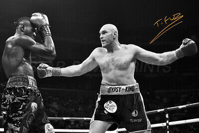"Tyson Fury ""Gypsy King"" photo print poster - pre signed - Wilder"