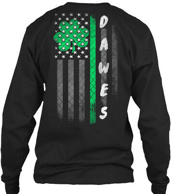 Dawes Lucky Family Clover Flag Gildan Long Sleeve Tee T-Shirt