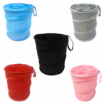 Car Bin Pop Up Black Storage Dustbin Foldable Travel Mini Rubbish Waste Basket
