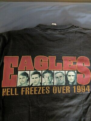 Vintage 1994 Eagles Hell Freezes over World Tour T-Shirt Giant by Tultex XL