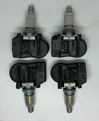 Set Of 4 Ford Mondeo Galaxy S-Max Tyre Pressure Sensors TPMS Valves 433MHz