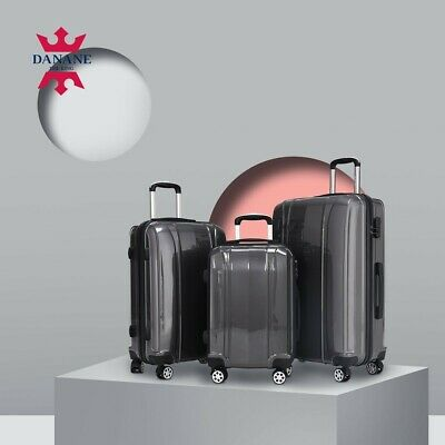 3PCS Travel Luggage Bag Trolley Carry On Set Suitcase ABS+PC High Quality