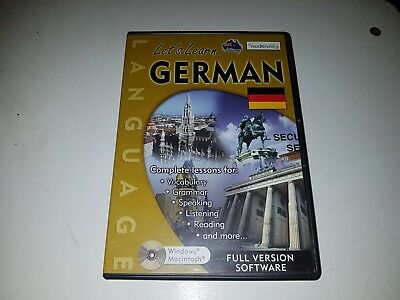 Nodtronics Let's Learn German Pc And Mac Cd Rom