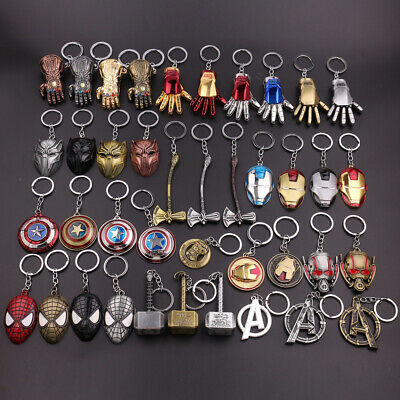 Avengers Marvel Heros Spider Iron man Thor Thanos Captain America Key Ring Chain