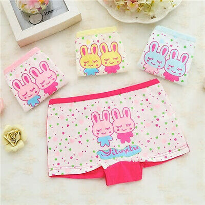 6 Pack Girls Boxer Shorts Underwear Briefs Cotton Knickers Age 2-10 Years