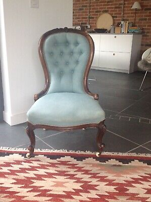 Antique Rosewood button backed nursing chair