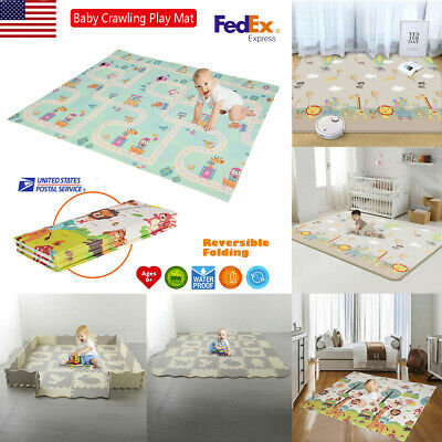 Playroom Baby Crawling Play Mat Colorful Animal Printed Kid Adult Gym Yoga Mat