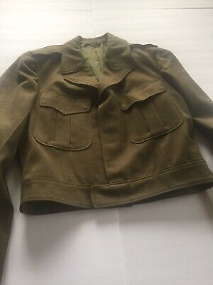 WWII US Army Wool Field Jacket Dated 1951 Size 40R manufactured PHII QM Depot