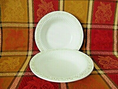 """Lenox """" Butler's Pantry """" set of 2 rimmed soup/pasta bowls Preowned"""