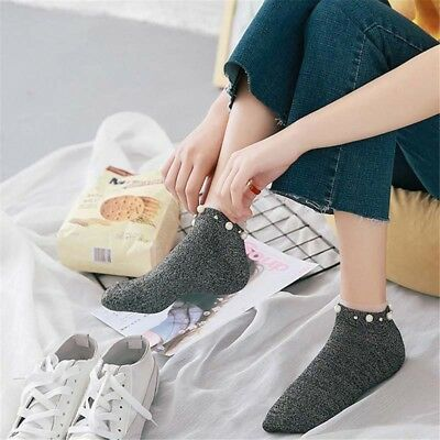 Style Hot Sale Women's Cotton Lovely Color Candy Hosiery Sox Bead Short Girl's
