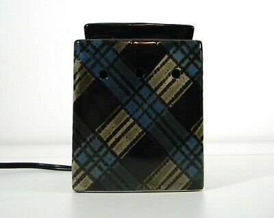 Scentsy Tartan Blue Plaid Wax Warmer no box