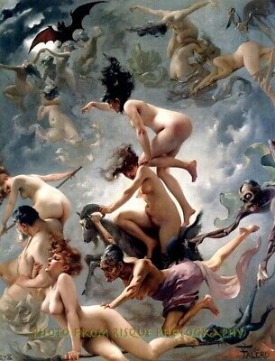 "Nude Witches Going to Their Sabbath 8.5x11"" Photo Print Luis Ricardo Falero Art"