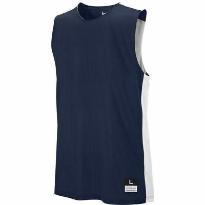 Nike League Reversible Practice Basketball Jersey XL Navy Blue White 626702-420