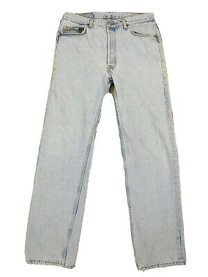 Vintage Levi's Button Fly Light Wash Denim Jeans Sz 33x32 Made in USA