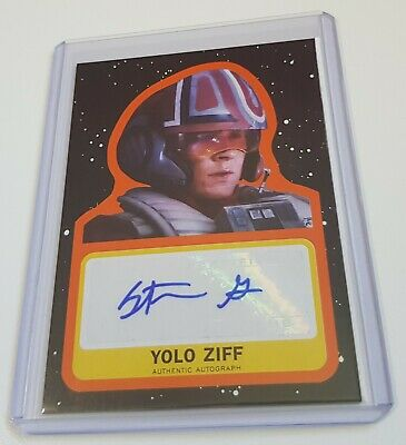 2017 Topps Star Wars Journey to The Last Jedi - ORANGE Autograph Yolo Ziff 07/25
