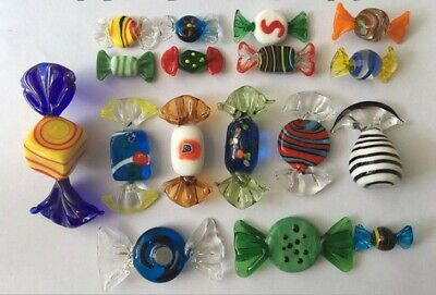 1PC Murano Glass Sweets Child Toy Wedding Xmas Party Candy Decorations Gift