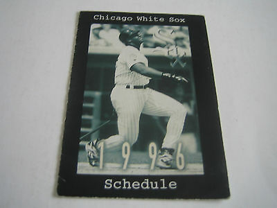 CHICAGO WHITE SOX 1986 MLB pocket schedule - Old Style