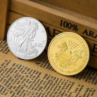 Statue of Liberty Commemorative Coins Non-currency Bitcoin Art Gift (Gold) NI5L
