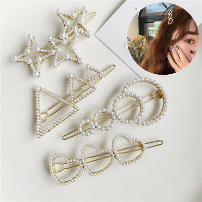 Women's Geometry Hair Slide Clips Snap Barrette Hairpin Pins Hair Accessories