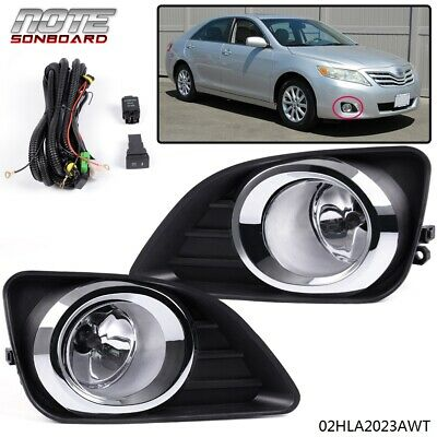 For 2010-2011 Toyota Camry Front Bumper Fog Lights Lamps+Switch Kit Clear Lens