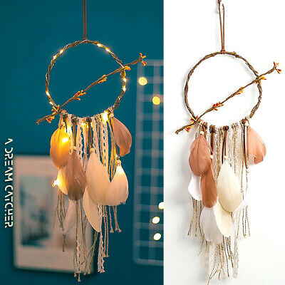 Feather Light Dream Catcher Willow Home Party Decor Wall Hanging dreamcatcher AU