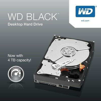 WD Black 4TB SATA3 3.5' 7200RPM 6Gb/s 256MB Cache HDD (WD4005FZBX)