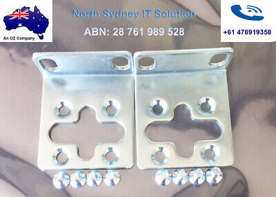 Pair of HP Brackets and 8 Screws For ProCurve 2510G-48, 2510G-24 Switches