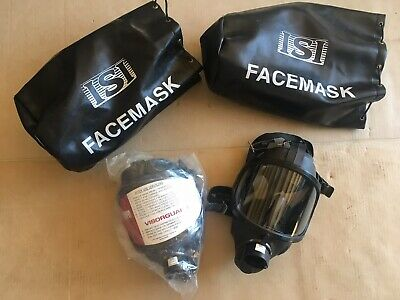 ISI Firefighters Face Mask - gas mask respirator w/ Pouch. 3-pcs. available NEW!