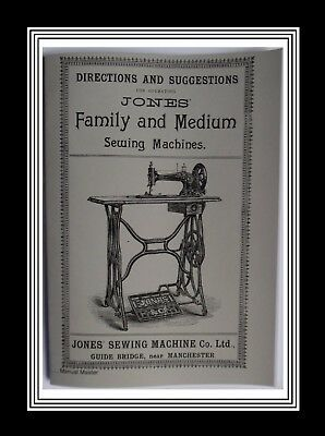 JONES Transverse boat shape shuttle Family & Medium Sewing Machine Manual 1890's
