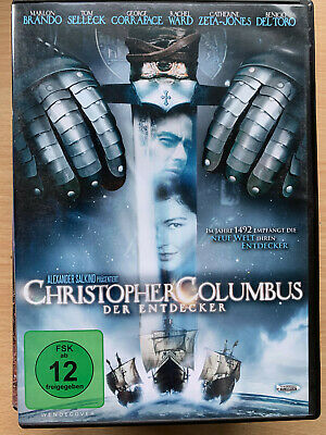 Christopher Columbus The Descubre DVD 1992 Epic con Marlon Brando + Racel Ward